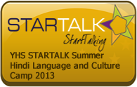 YHS Bensalem STARTALK Summer Hindi CampAugust 6-17, 2012